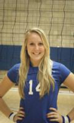 Volleyball player finishes strong career with Rams