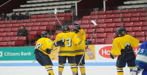 Men's Hockey Off to Fast Start with 5-2 Victory Over Assumption