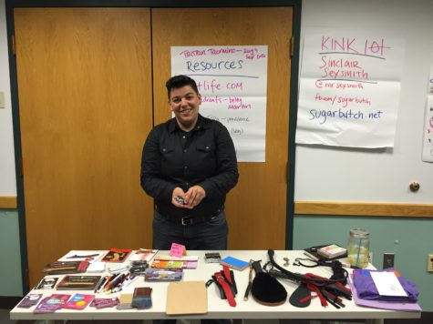 Professional kinkist Sinclair Sexsmith hosts discussion on campus