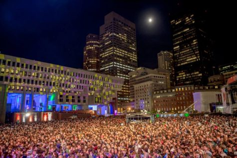 Blood moon beams light on Boston Calling stage