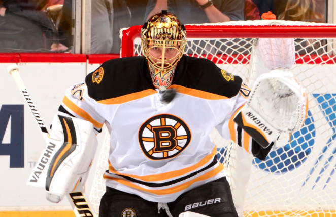 By Twitter user Bruins |  Goaltender Tuukka Rask