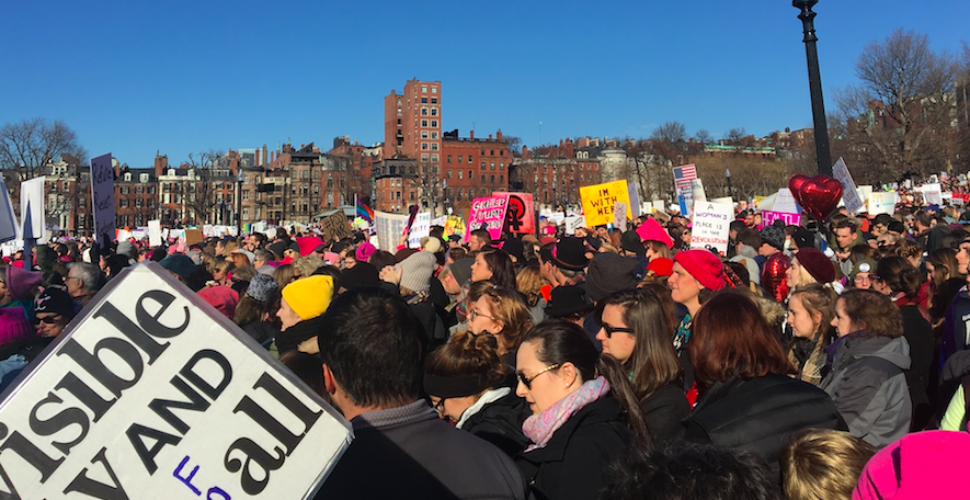 Women's March echoes opposition against Trump and fight for equality