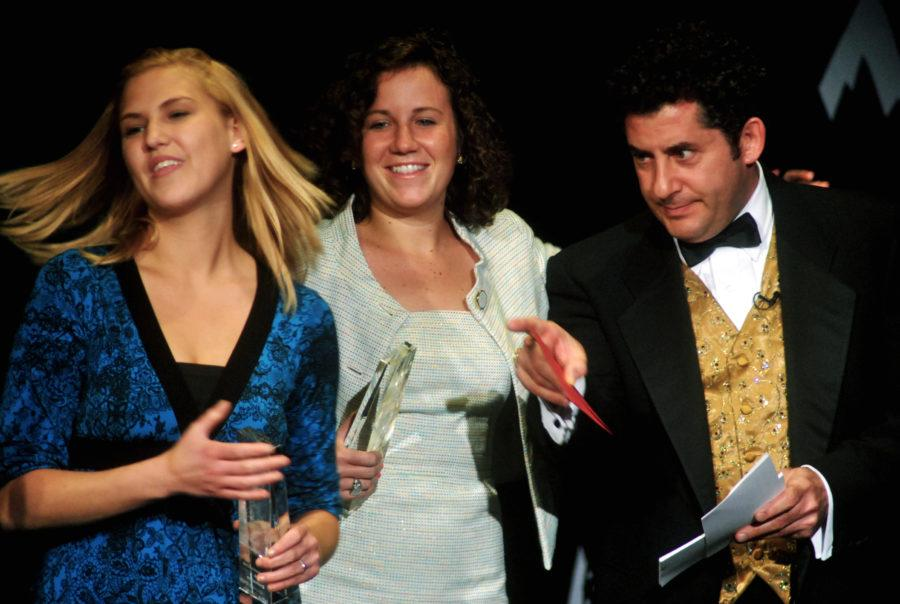 A photo of students and host Dr. Dana Rosengard at a previous Rammy Awards show.