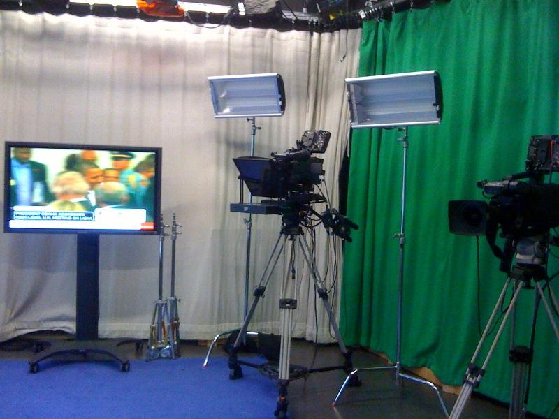 Students broadcast live from Studio 73