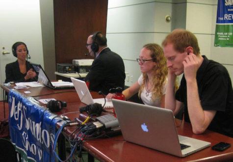 Government classes participate in broadcast