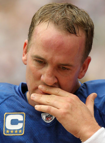 The Colts have gone 0-7 this season without their star quarterback Peyton Manning (above).