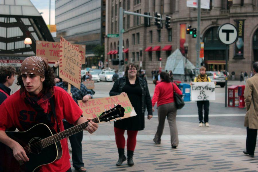 Occupy Boston protests spread through city