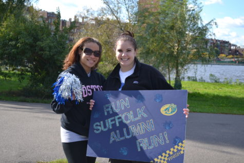 Suffolk students, alumni, families 'Stampede' with community