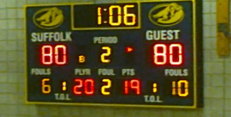 Suffolk Men's Basketball Falls to Eastern Nazarene in Final Three Minutes