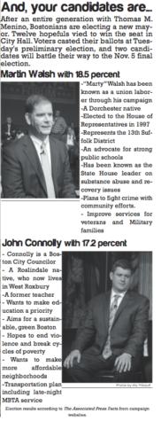 Boston Mayoral Race Update