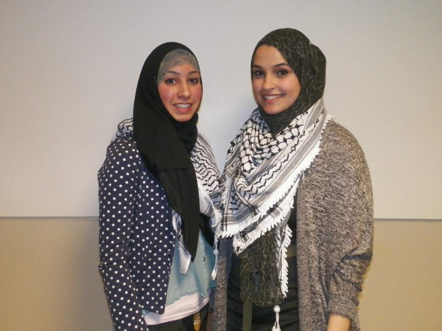 SJP President Yasmeen Hamdoun (left) and Vice President Leila Sadeddin (right)