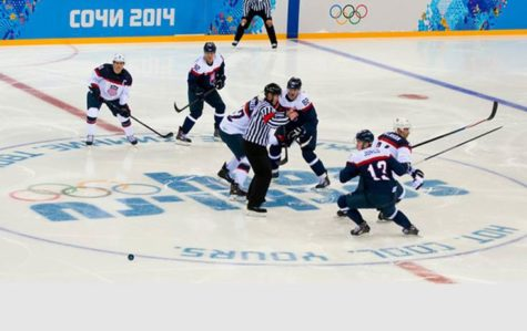 US men's hockey team going for the gold medal in Sochi