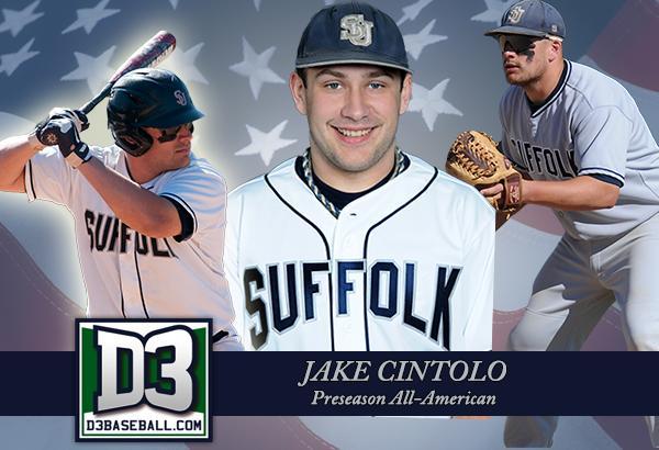Jake Cintolo, a senior and first baseman (Photo courtesy of Suffolk Athletics)