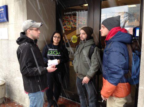 SGA asks students to smoke across street as snow piled up Tuesday