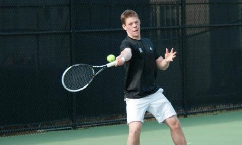 Men's Tennis survives against Rhode Island College