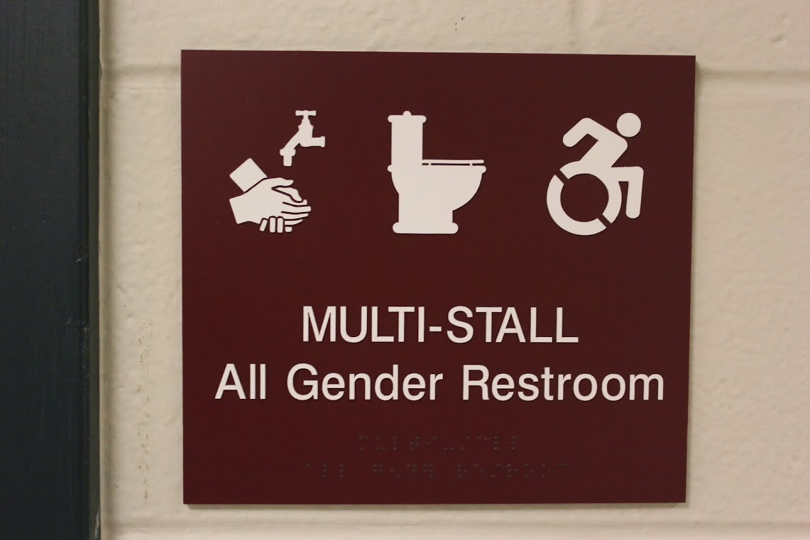 Genderneutral Bathrooms At Suffolk Inclusive To All The Suffolk - All gender bathroom sign for bathroom decor ideas