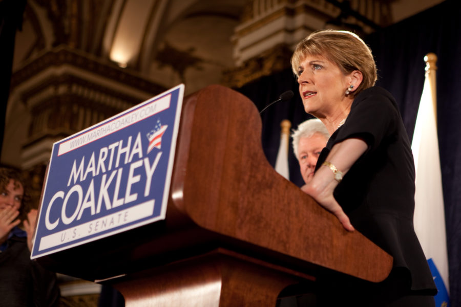 Democratic gubernatorial candidate Martha Coakley.