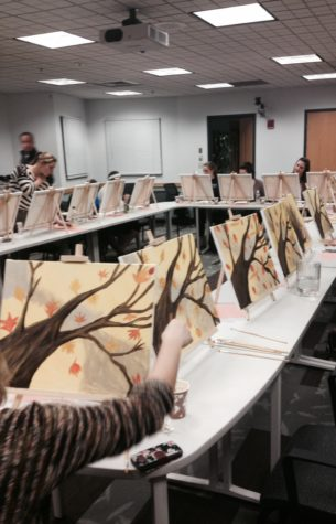 Paint night provides stress relief for students