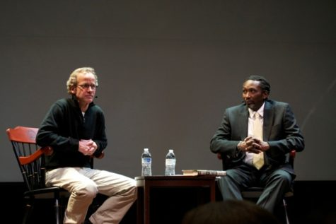 (L-R): Richard Lehr and Robert Bellinger at the latest installment of Suffolk University's Ford Hall Forum.