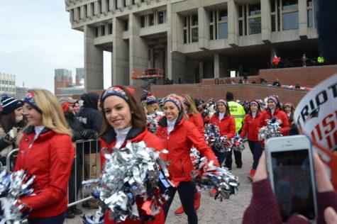 Excitement fills City Hall Plaza for Patriots send-off