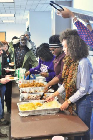 Soul Food Luncheon held by BSU students during Black History Month.
