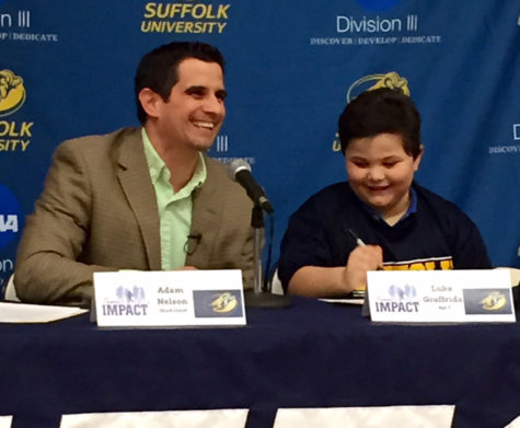 Team IMPACT signs patient Luke Giuffrida