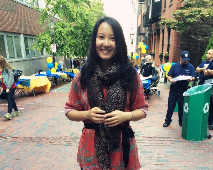 Violin Fan is the president of the International Student Association