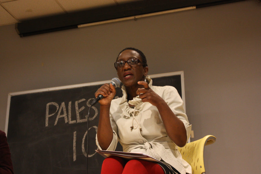 Rev. Sekou discussing religious influence in Israeli-Palestinian conflict. Sharanya Pillai/ BU SJP