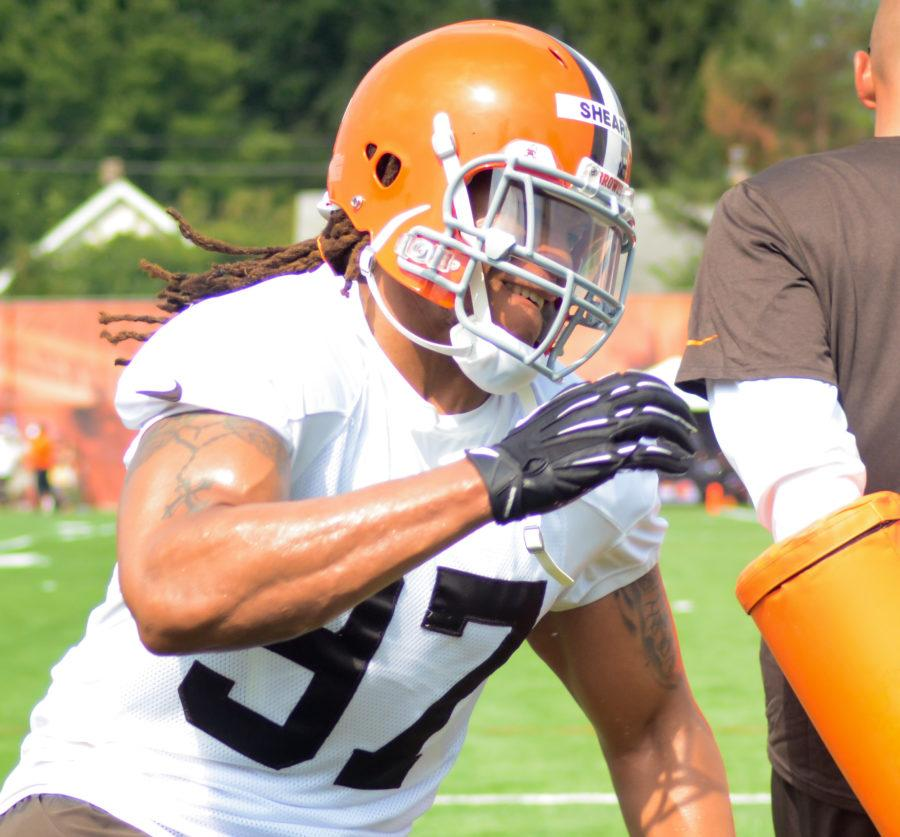 Jabaal Sheard in training camp with the Cleveland Browns.