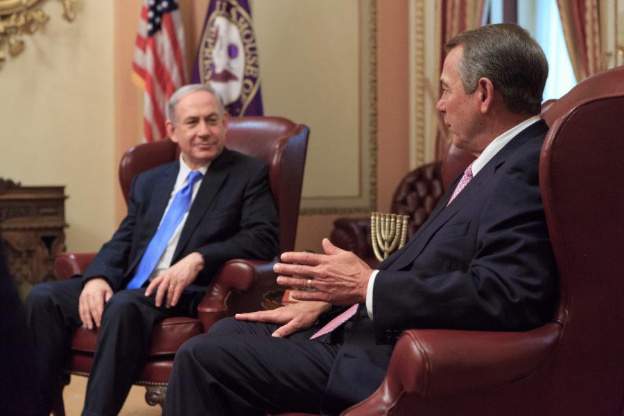 Prime Minister Netanyahu with Speaker John Boehner. By Flickr user John Boehner