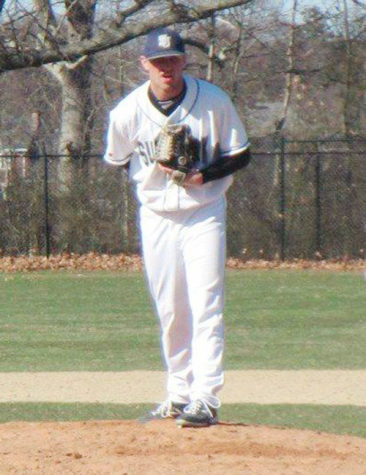 Rams pitcher Cal Carroll tossed 3.1 scoreless innings on Sunday. (Courtesy of Cal Carroll)