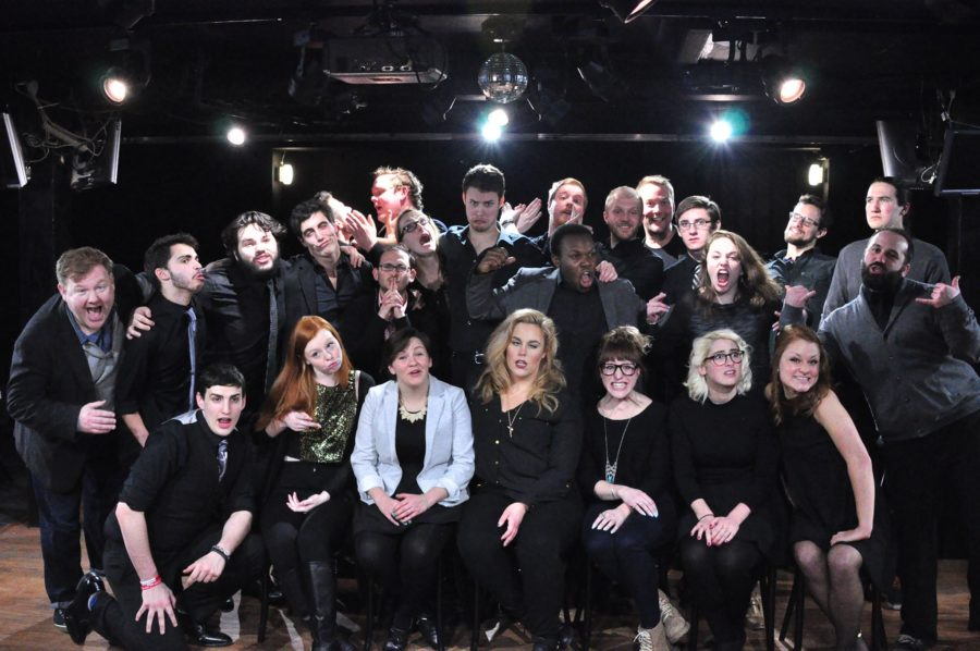 Current Seriously Bent members and alumni at their Seriously Bent Takeover Show in February. Photo courtesy of Seriously Bent Facebook page