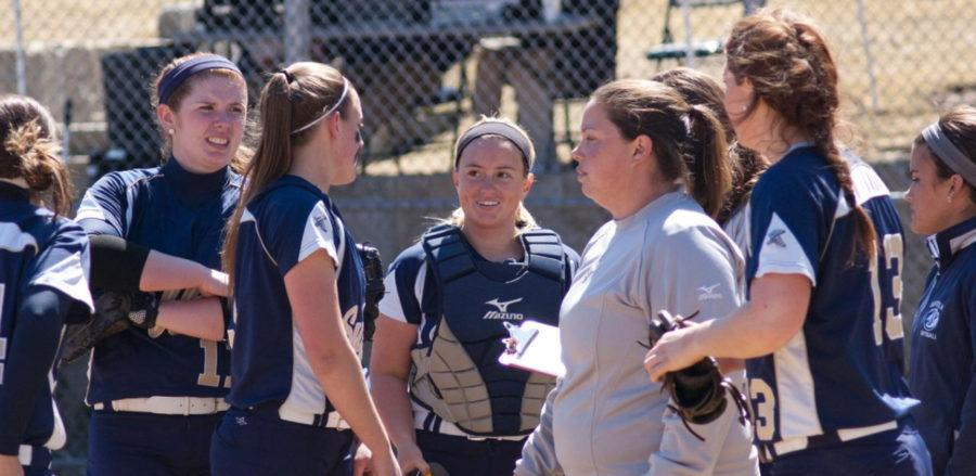 Softball continues to follow the lead of Coach Davis. (Courtesy of Suffolk Athletics)