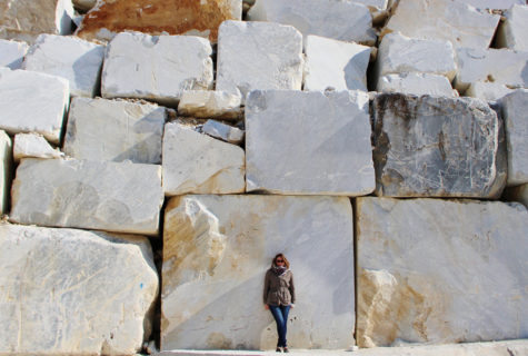 Cormier observes marble on a colossal scale in the White Marble Carrara Mountains.
