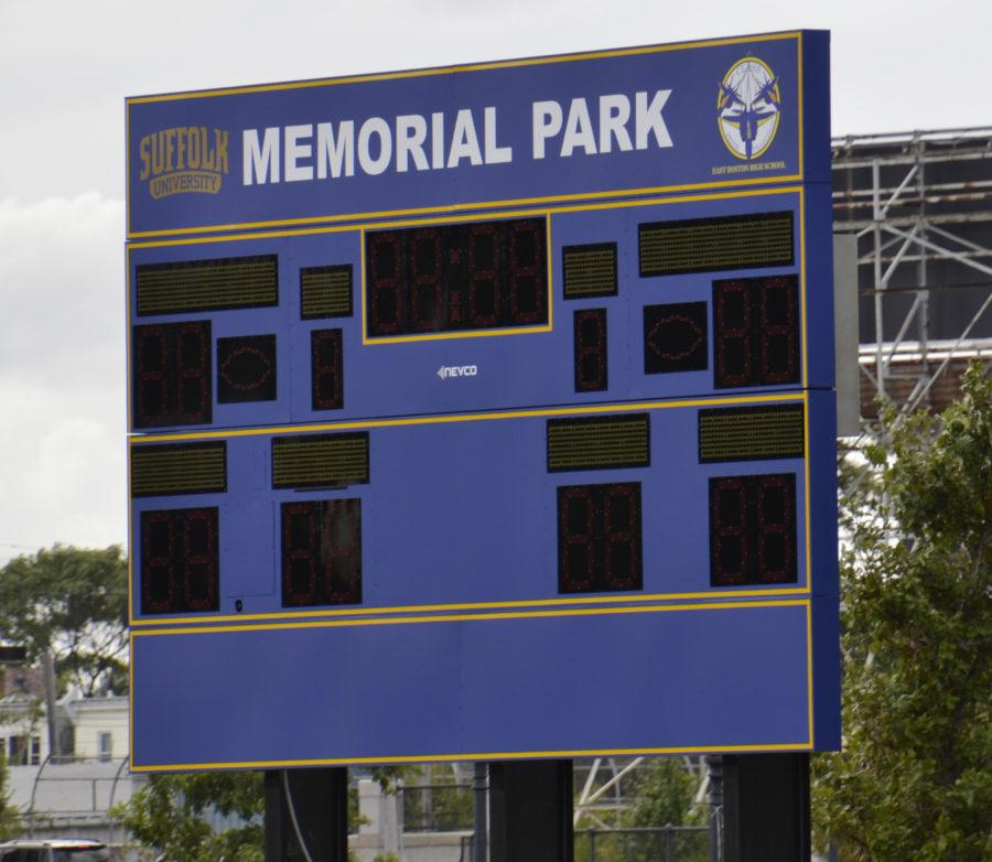 Suffolk added two new electronic scoreboards to the park for its baseball and softball teams. Craig Martin/Journal Staff.