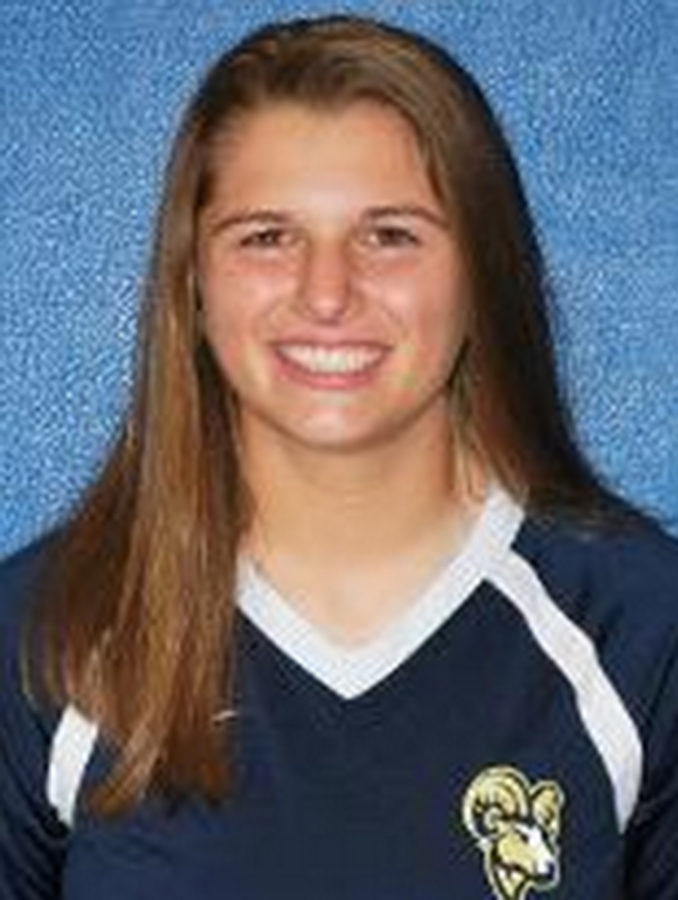 Rachel Fancy is a freshman on the volleyball team. Courtesy of Suffolk Athletics.