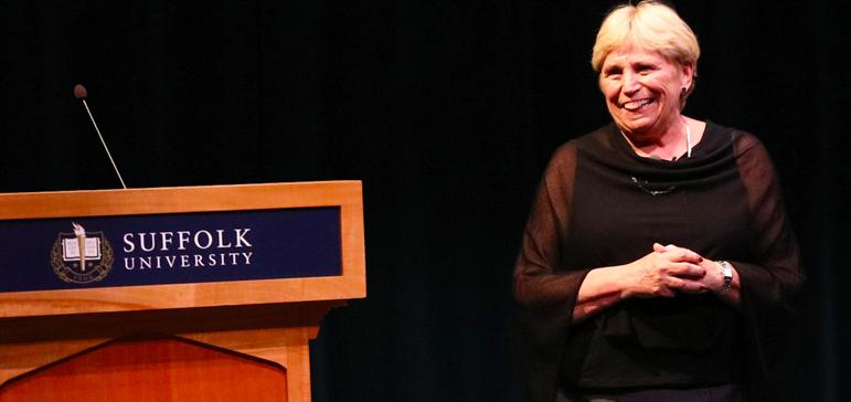 Suffolk Universitys first female president, Margaret McKenna
