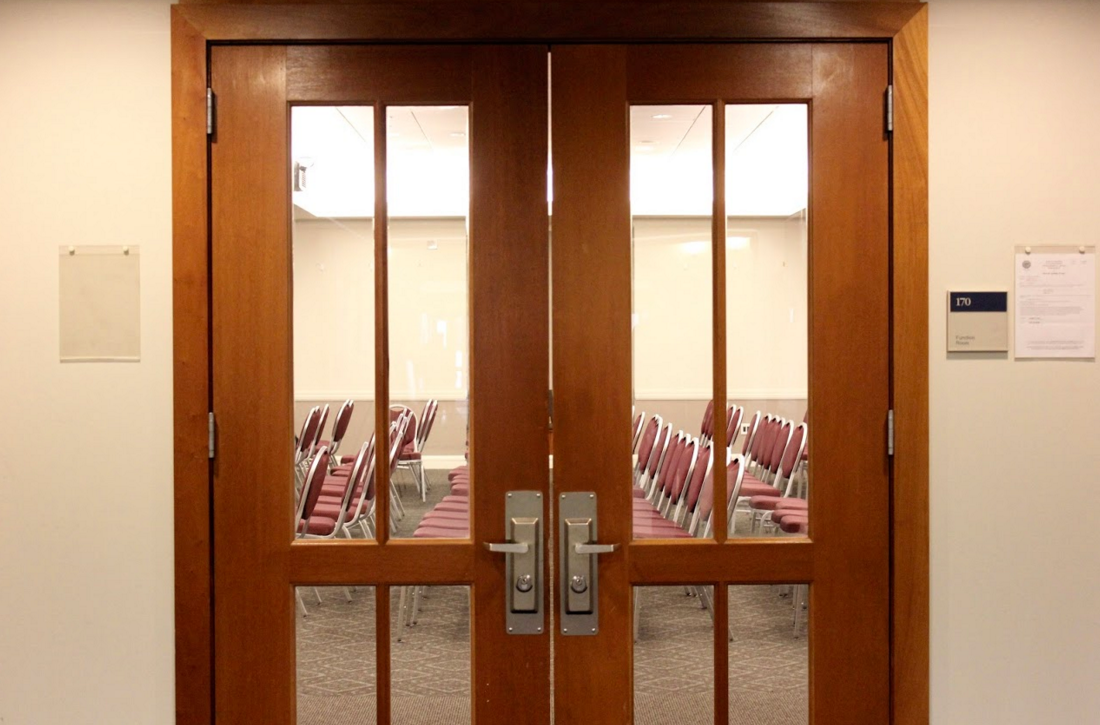 The Restorative justice circle was held on Friday, Nov. 4 in the Law School first floor Function Room where Journal reporters were not admitted in.