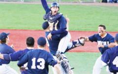 Third time is a charm: Suffolk University baseball wins third straight GNAC Championship.