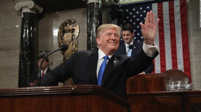 Trump's State of the Union looked to take credit, hardline stances