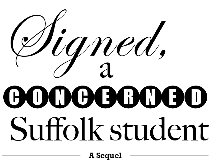 Signed, a concerned Suffolk student