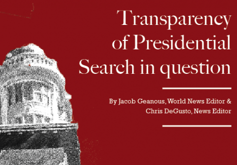 Transparency of Presidential Search in question
