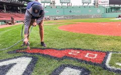 Suffolk student tends field for historic Red Sox season