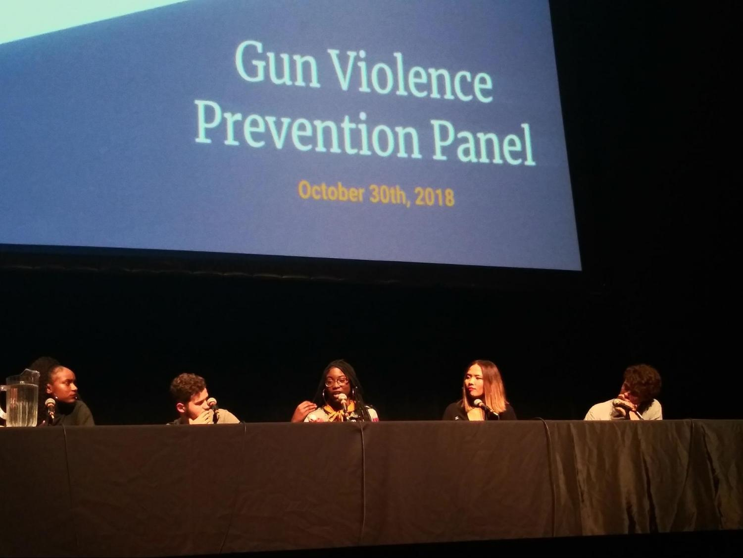 (From Left) Youth activists Bria Smith, Michael Martinez, Aalayah Eastmond, Fiona Phie and Jack Torres discussed how the conversation surrounding school gun violence has underscored the issue of inner-city gun violence among people of color