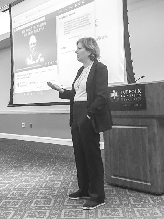 Nancy J. Altman, president of Social Security Works, spoke about the state of Social Security last Thursday at Sargent Hall