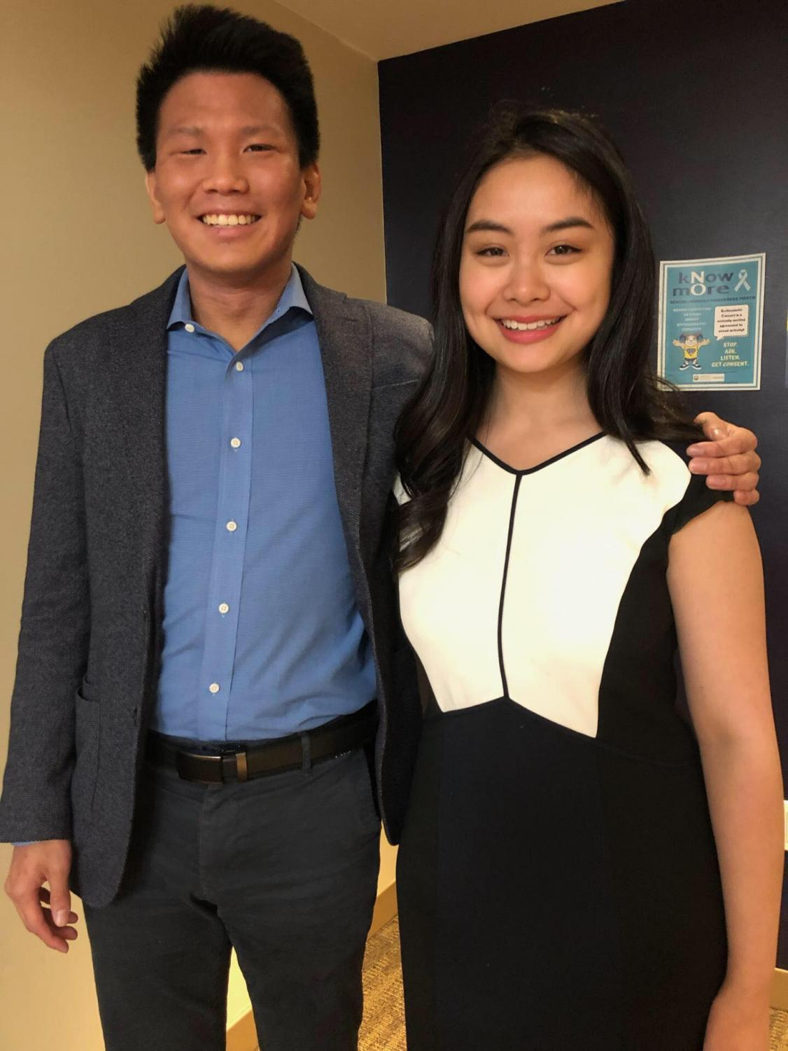 Southeast Asian Association members Joseph Effendy (president) and Leah Magno (secretary)