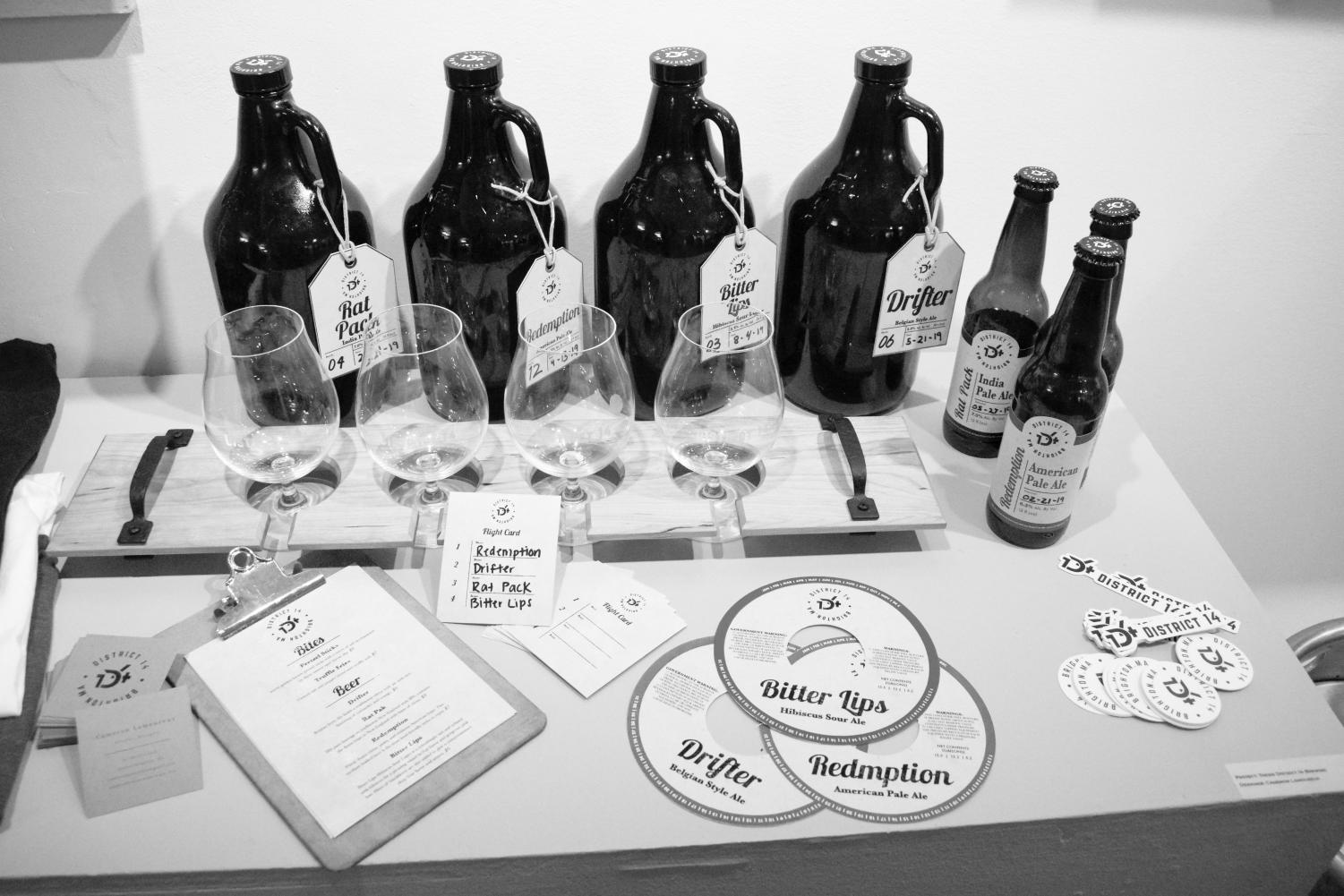 Cameron Lamoureux designed merchandise for a fictional brewery in Allston-Brighton for his capstone