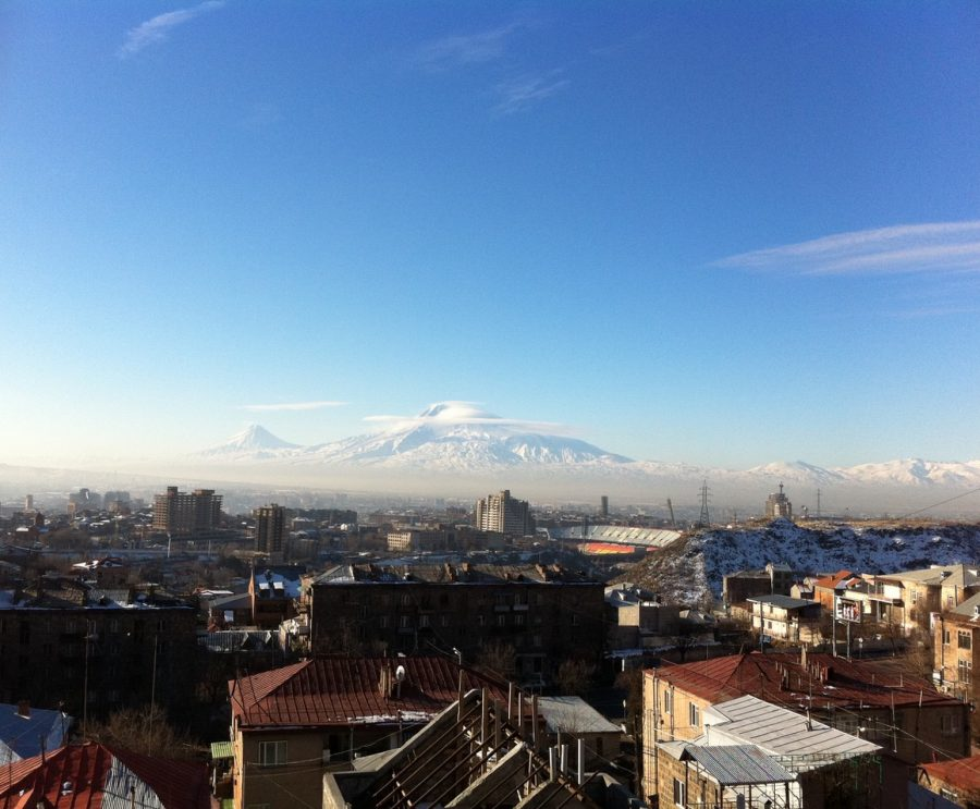 Mount+Ararat+and+the+city+of+Yerevan%2C+Armenia