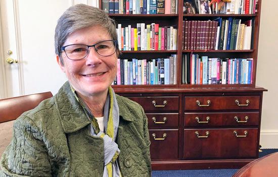 Newly chosen provost Julie Sandell