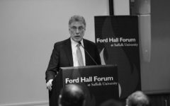Marty Baron visits Suffolk University